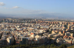 Aerial view of alicante. An aerial view of alicante, spain stock photography