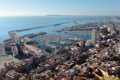 Aerial view of Alicante bay Royalty Free Stock Photo