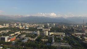 Aerial view of Almaty stock video footage