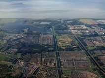 Aerial view of Almere - Buiten city in Holland Royalty Free Stock Photography