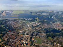 Aerial view of Almere city. Holland. Europe Stock Image