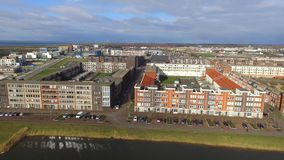 Aerial view on Almere Poort. Netherlands stock images
