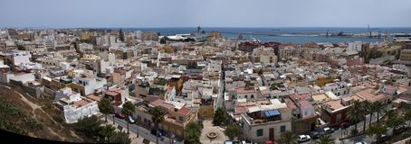 Aerial view of Almeria Royalty Free Stock Images