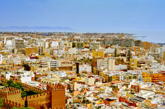 Aerial view of Almeria, Spain Royalty Free Stock Image