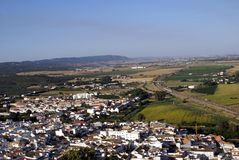Aerial view of Almodovar, Cordoba, Andalusia, Spain Royalty Free Stock Images