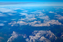 Aerial View of the Alps Stock Photography