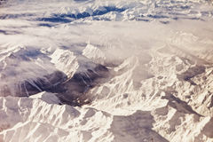 Aerial view of alps Royalty Free Stock Photography