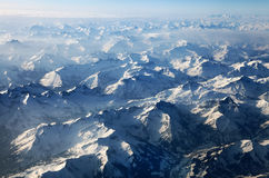 Aerial view of the Alps Royalty Free Stock Image