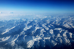 Aerial view of the Alps Royalty Free Stock Photo