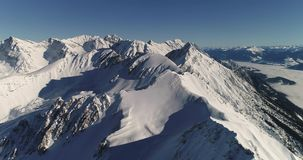 Aerial View of the Alps stock video footage
