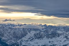 Alps in Austrian, aerial view Stock Images