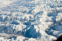 Aerial view of Alps Stock Photography