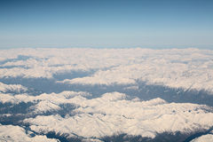 Aerial View of the Alps Mountain Range Stock Images
