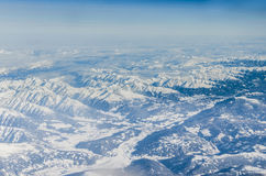 Aerial view of Alps Stock Image