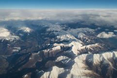 Aerial view on the alps Stock Photography