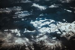 Aerial view of Alps Royalty Free Stock Photo