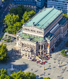 Aerial view: the Alte Oper (Old Opera House), in Frankfurt Stock Image