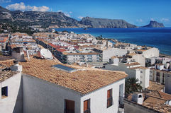 Aerial view of Altea, Spain Royalty Free Stock Image