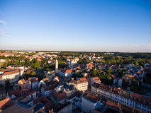 Aerial View Altenburg Thuringia Castle old medieval town Royalty Free Stock Images
