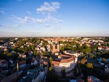 Aerial View Altenburg Thuringia Castle old medieval town Stock Image
