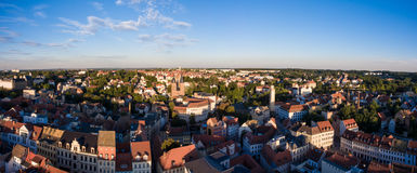 Aerial View Altenburg Thuringia Castle old medieval town Royalty Free Stock Photography