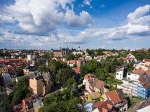 Aerial View Altenburg Thuringia Castle old medieval town Stock Photo
