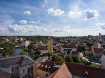Aerial View Altenburg Thuringia Castle old medieval town Stock Images