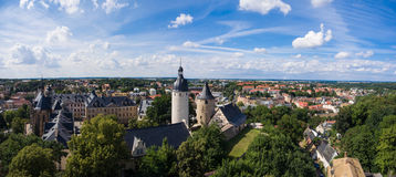 Aerial View Altenburg Thuringia Castle old medieval town. Summer Stock Photo