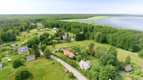 Aerial view of Altja, Estonia Royalty Free Stock Photography