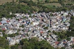 Aerial view of Alto Lucero, Veracruz, Mexico. Alto Lucero is located at 21 miles of Xalapa, capital of the state of Veracruz royalty free stock photo