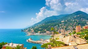 Aerial view of amalfi coast royalty free stock images