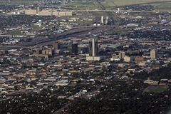 Aerial View of Amarillo, Texas. An aerial view of Amarillo, Texas. Amarillo is the largest city and the regional economic center of the Texas Panhandle Royalty Free Stock Photography