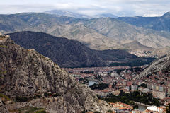Aerial view of Amasya Royalty Free Stock Photo