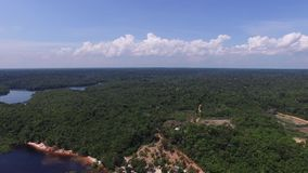 Aerial view of Amazon, Brazil stock video footage