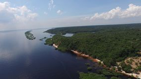 Aerial view of Amazon, Brazil stock footage