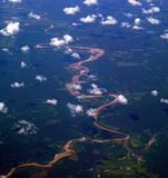 Aerial view of Amazon River, Peru Royalty Free Stock Image