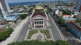 Aerial view of the Amazon Theater in Manaus, Brazil Stock Photography