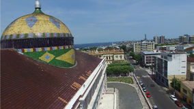 Aerial view of the Amazon Theater in Manaus, Brazil Royalty Free Stock Images