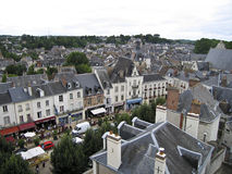 AERIAL VIEW OF AMBOISE Royalty Free Stock Images