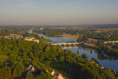 Aerial view of Amboise Royalty Free Stock Photo