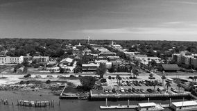 Aerial view of Amelia Island, Fernandina Beach from drone - Florida.  royalty free stock photo