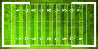 Aerial View of American Football Field Stock Photography