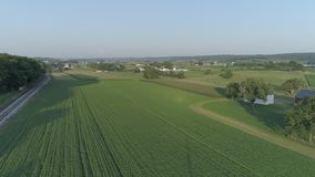 Aerial View of Amish Countryside stock video footage