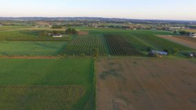 Amish Farm Lands from Above 5 stock photography