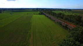 Amish Farm Lands from Above 16 royalty free stock photography