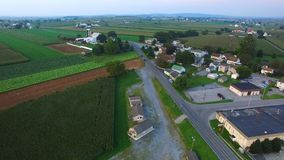 Amish Farm Lands from Above 23 royalty free stock image