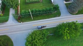 Amish Farm Lands from Above 21 stock images