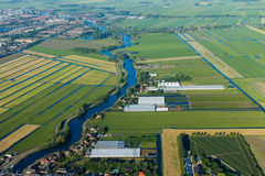 Aerial view, Amstel, Netherlands Royalty Free Stock Images
