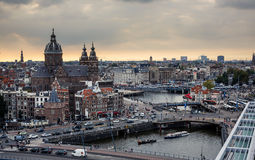Aerial view of Amsterdam Stock Image