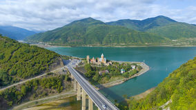 Aerial view of Ananuri fortress Stock Images